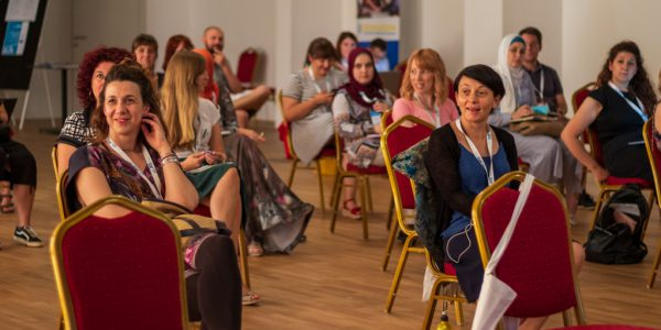 """A group of attendes to a three-day training """"Experiences, challenges and positive practices in the integration of persons from the Resettlement Programme"""" organised by JRS Croatia."""